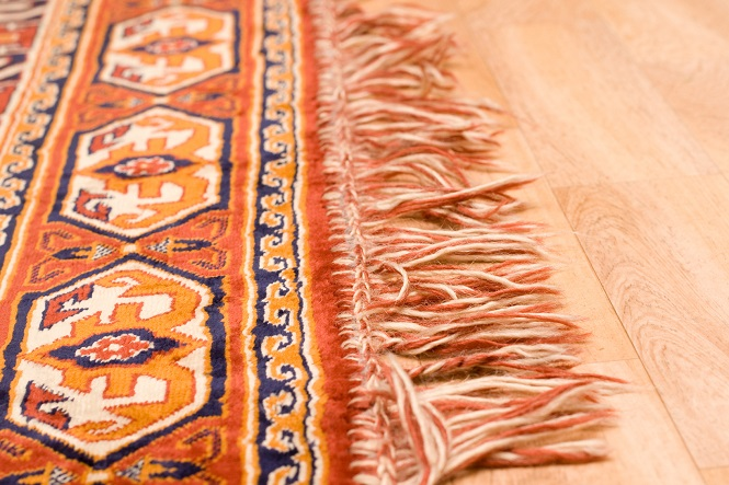 Motif patte d'Our sur tapis Boukhara