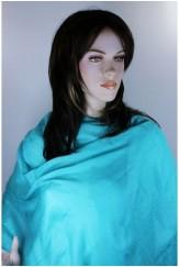 Pashmina Bleu turquoise