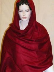 Pashmina rouge etole