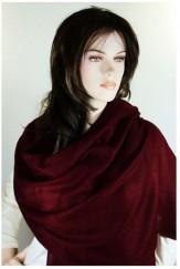 Pashmina rouge foncé