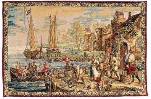 Tapisserie - L'Arrivée au Port