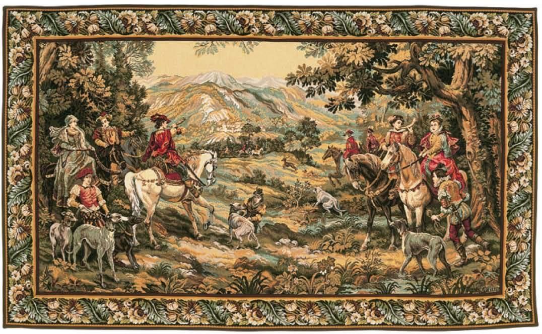 Chasse courre de detti gobelins tapis for Comment enlever de la tapisserie
