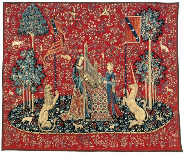 La s rie de tapisserie la dame la licorne gobelins tapis - Tapisserie dame a la licorne ...