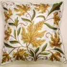 Housse de coussin fleur jaune