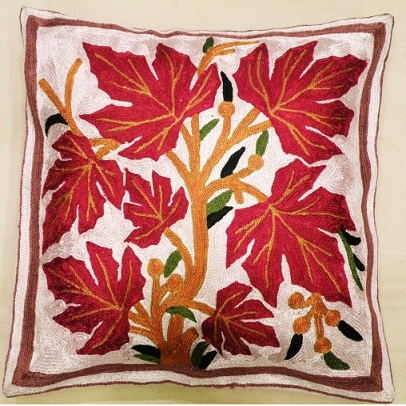 Housse de coussin fleur rouge