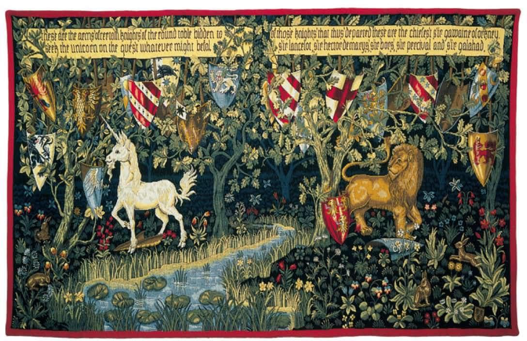 Les chevaliers de la table ronde gobelins tapis - Recherche sur les chevaliers de la table ronde ...