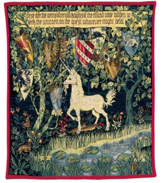 Licorne h raldique gobelins tapis for Tapisserie originale couloir