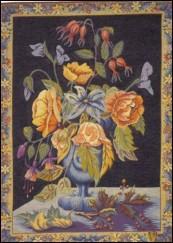 Le bouquet (Fond bleu)