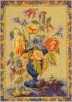 Le bouquet (Fond jaune)