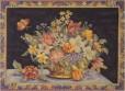 Panier fleuri (fond bleu)