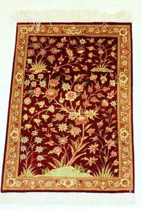 tapis ghoum soie 95 x 60 cm