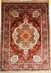 Tapis pure soie afghan 1