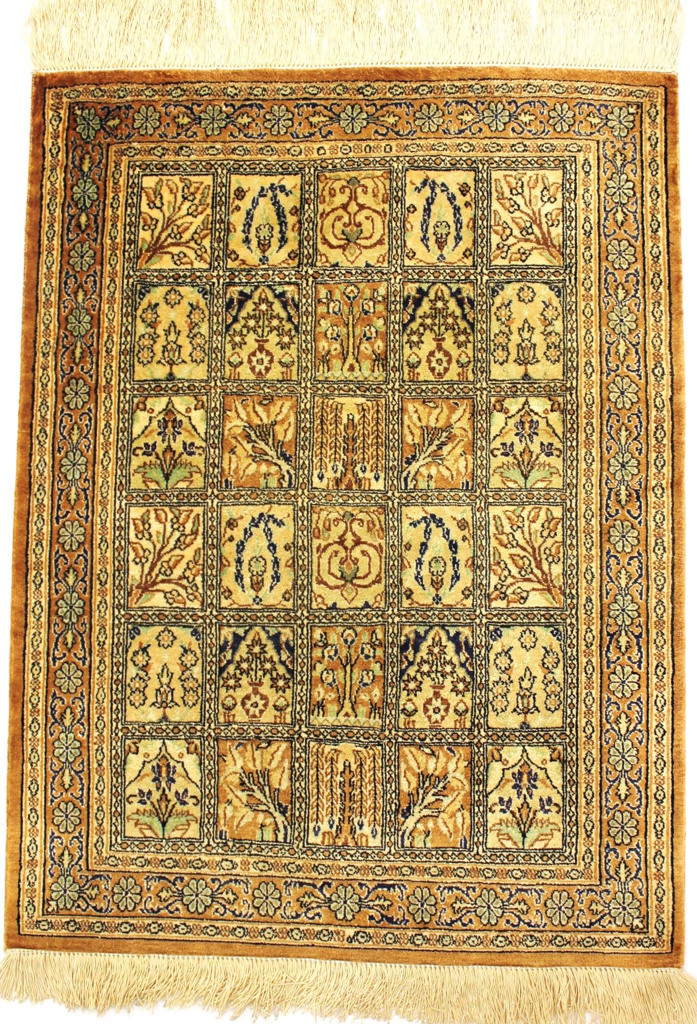 tapis persan ghoum soie 76x56 gobelins tapis. Black Bedroom Furniture Sets. Home Design Ideas